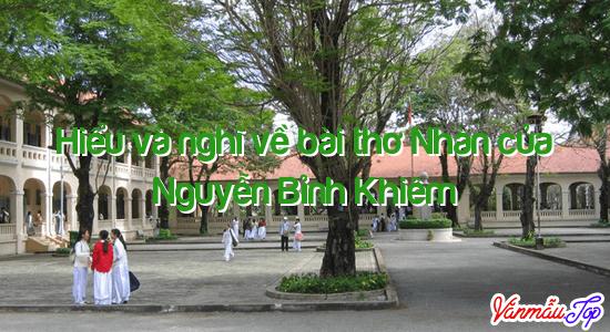 Hiểu và nghĩ về bài thơ Nhàn của Nguyễn Bỉnh Khiêm
